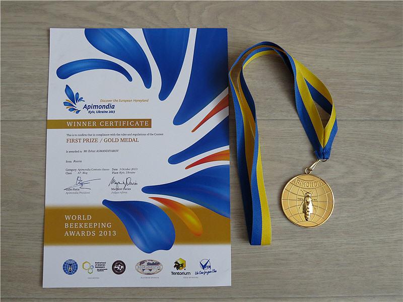 Диплом и золотая медаль